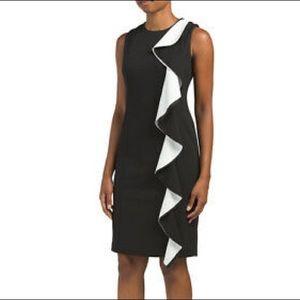 Karl Lagerfeld Dresses - (SOLD) Karl Lagerfeld Shift Dress w/ Large Ruffle